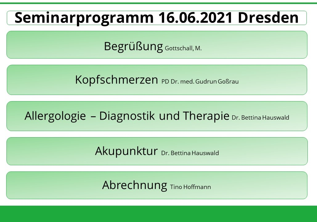 Seminarprogramm 166.06.2021