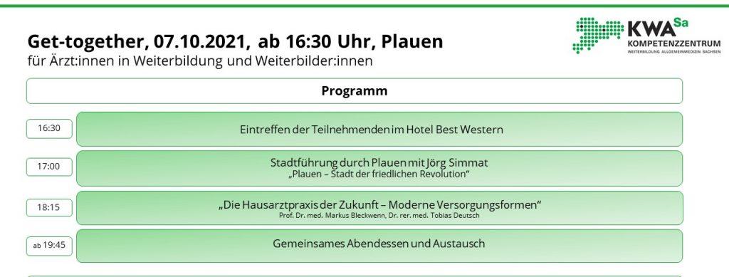 Anmeldung ÄiW: Get-together @ Plauen